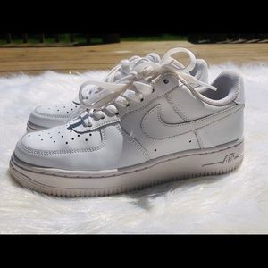 All White Nike Air Force 1s